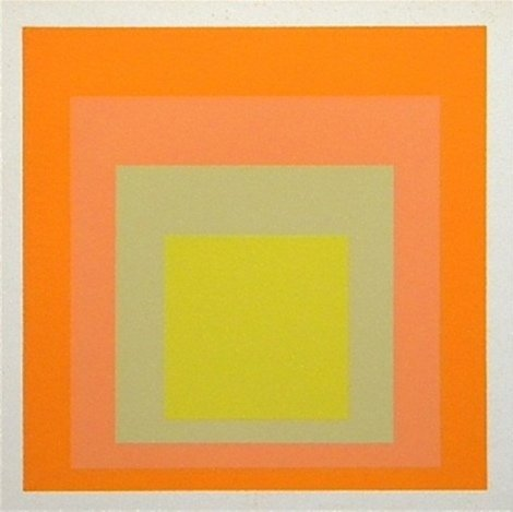 """ALBERS SILKSCREEN """"HOMAGE TO THE SQUARE"""" 1968"""