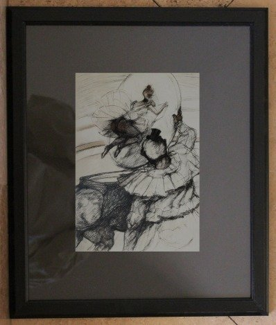 """TOULOUSE-LAUTREC ART PRINT F/M THE """"AT THE CIRCUS"""""""