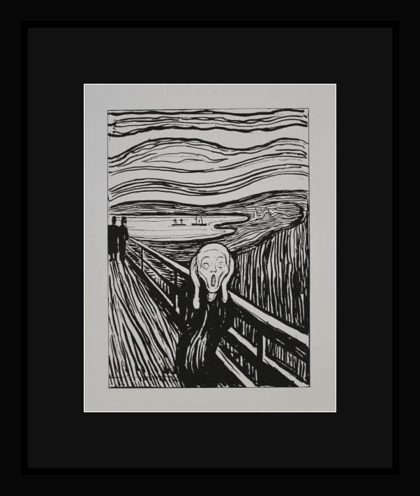 """MUNCH """"THE SCREAM"""" - FRAMED"""
