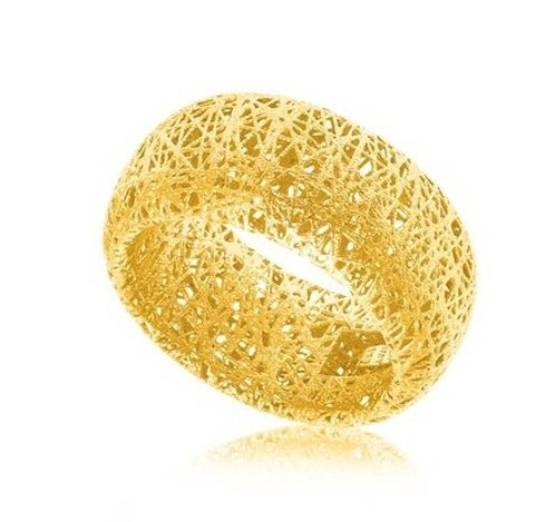 14KY GOLD DOME STYLE LACE LIKE RING