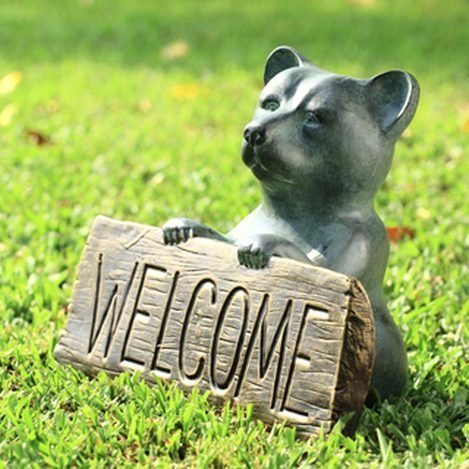 FRIENDLY BEAR WELCOME SIGN