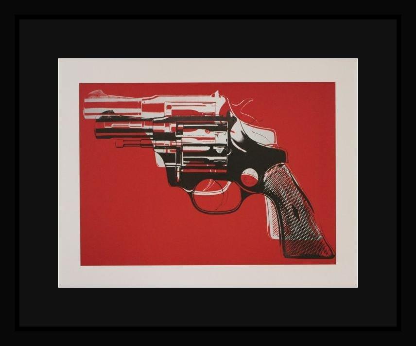 """WARHOL """"GUNS"""" - FRAMED"""
