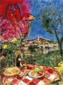 """CHAGALL """"LOVERS OVER THE CITY"""""""