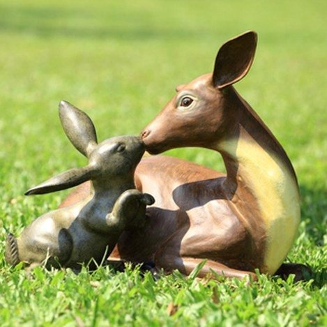 DEER AND RABBIT FRIENDS