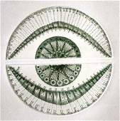 """PONC HAND SIGNED ETCHING """"GREEN SPHERE HORIZONTAL"""""""