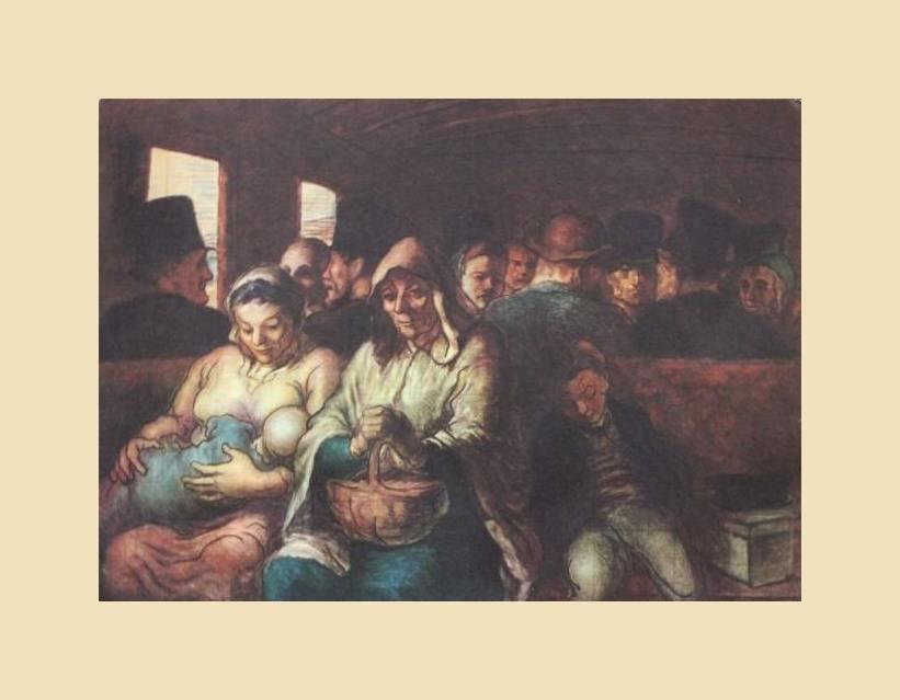 "1937 DAUMIER LITHOGRAPH ""THIRD CLASS CARRIAGE"""