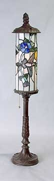 COLUMN STAINED GLASS LAMP - TIFFANY STYLE