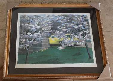"""""""CHERRY BLOSSOM TIME"""" AP LITHOGRAPH"""