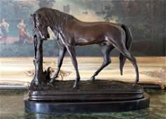 """TRANQUILITY"" BRONZE HORSE SCULPTURE - PJ MENE"