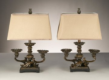 PAIR OF DECORATIVE TABLE LAMPS