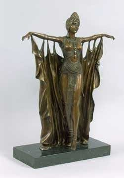 DECO DANCER BRONZE SCULPTURE
