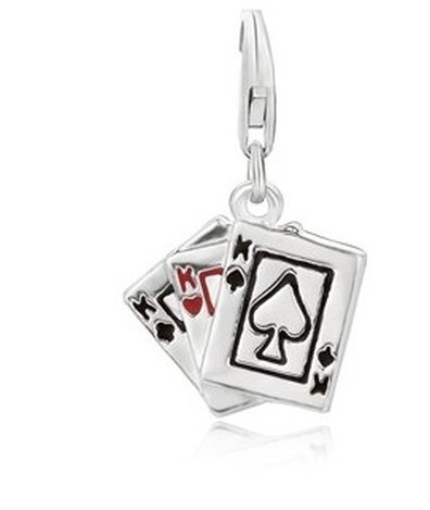 STERL PLAYING CARDS CHARM