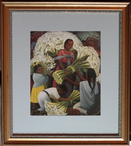 "RIVERA ""THE FLOWER VENDOR"" - FRAMED"