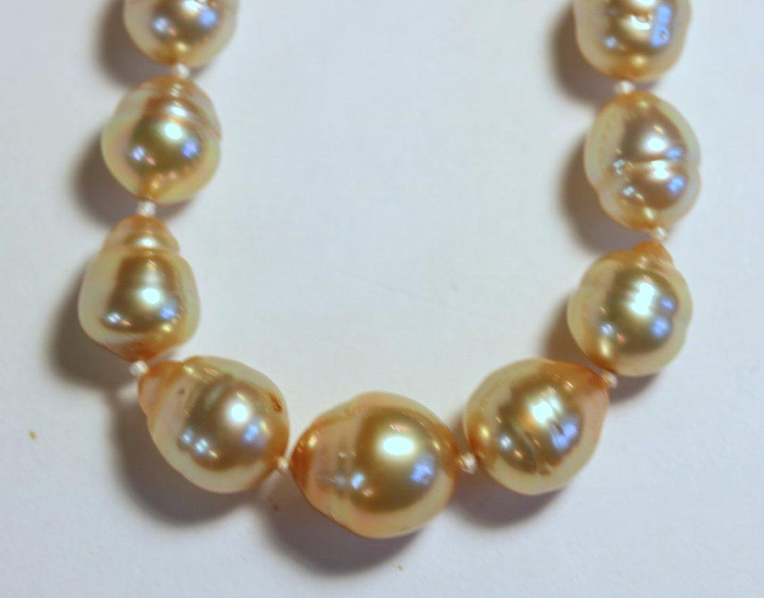Golden South Sea Pearl Strand - 2