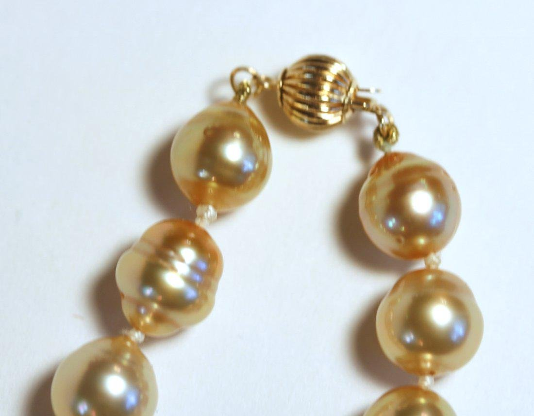 Golden South Sea Pearl Strand - 3