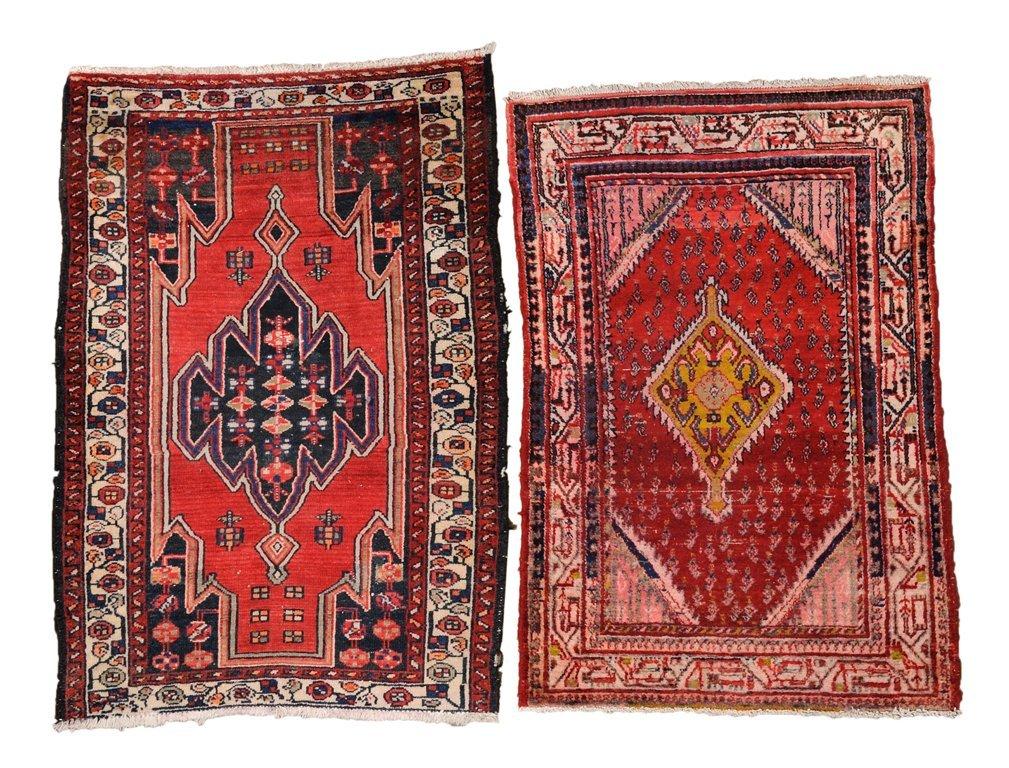 A SET OF TWO PERSIAN HAMADAN RUGS