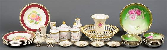 A GROUP OF PORCELAIN INCLUDES LENNOX, ROSENTHAL & CROWN