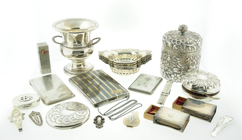 A COLLECTION OF 50+ PIECES OF STERLING SILVER Late 19th
