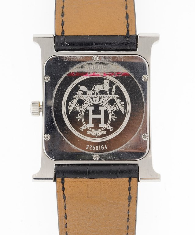 A HERMES H HOUR HEUERE WATCH WITH DIAMONDS Detected not - 3