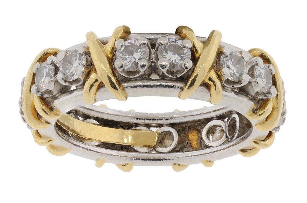 A TIFFANY & CO. JEAN SCHLUMBERGER SIXTEEN STONE DIAMOND