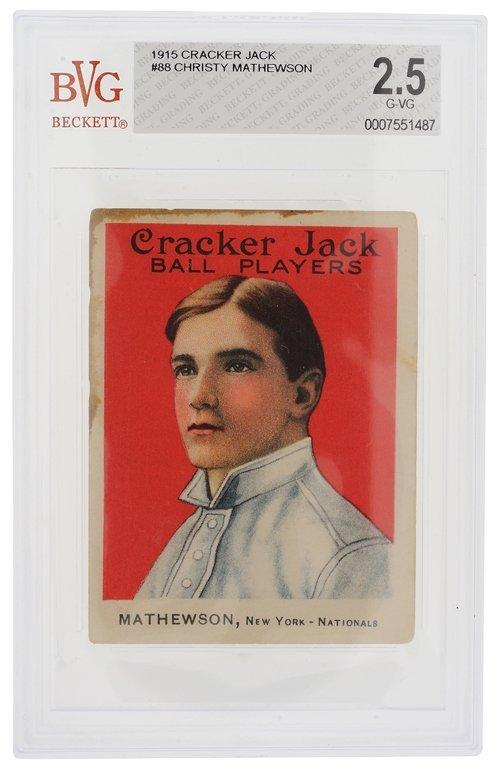 A RARE 1915 CRACKER JACK CHRISTY MATHEWSON #88 BASEBALL