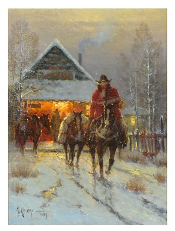 A G. HARVEY OIL PAINTING (American, 1933-) Very good co