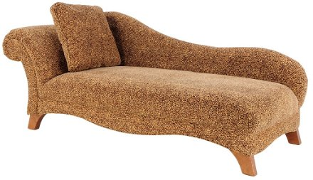 A Whimsical Cheetah Print Chaise Lounge