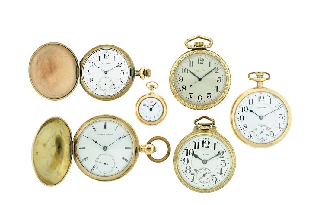 A GROUP OF SIX POCKET WATCHES 20th Century Good