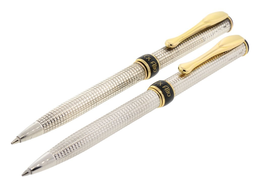 A SET OF TWO GRIFOS PEN IN STERLING SILVER AND 18KT