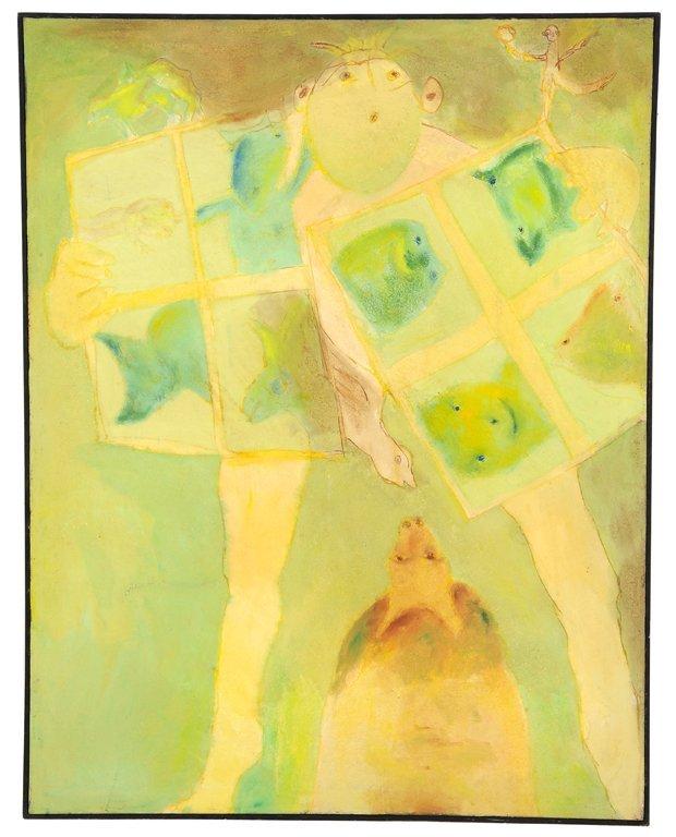 """JAVIER CRUZ, (Mexican, 1952- )., """"EL HOMBRE DE LA"""