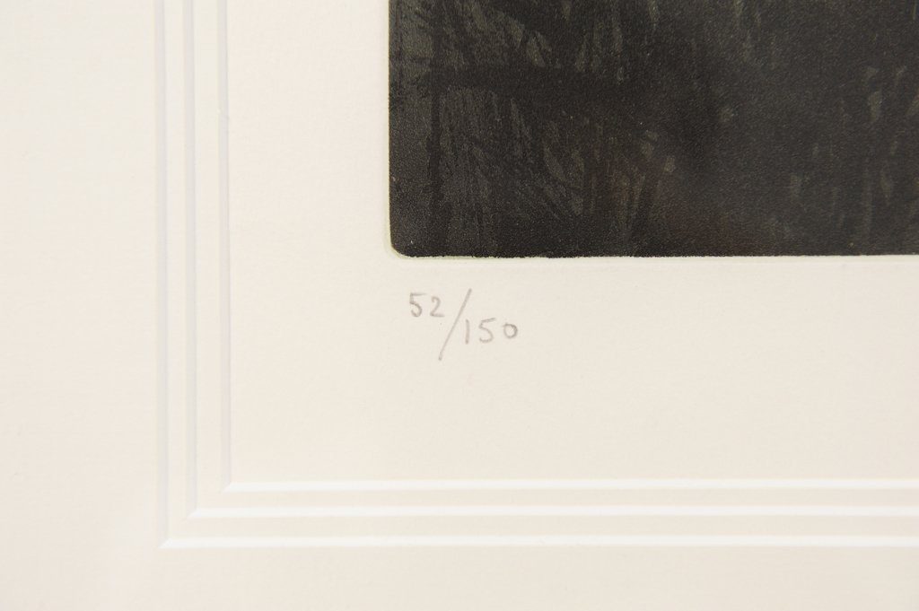 A FRAMED SUNRISE LITHOGRAPH BY F. HILON - 3