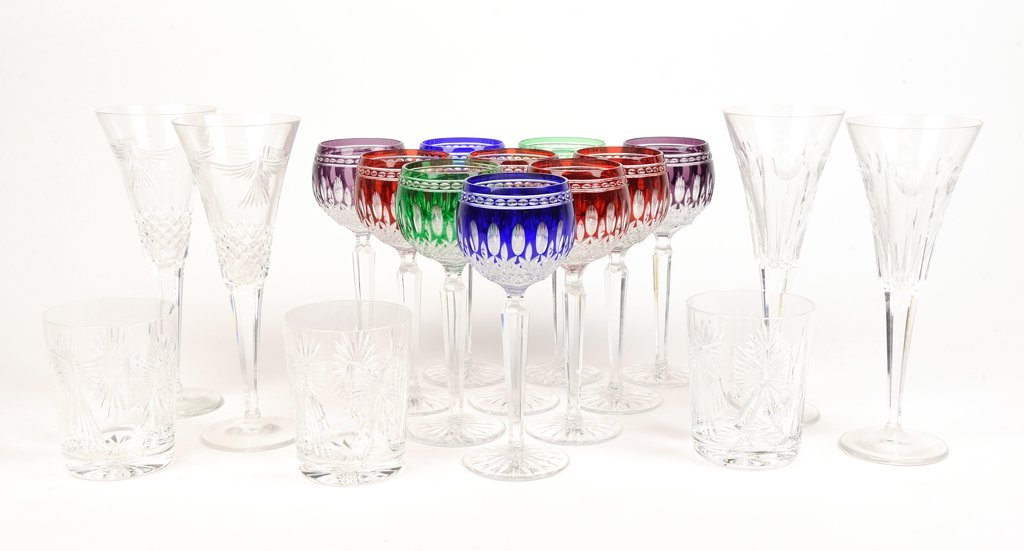 A COLLECTION OF WATERFORD CRYSTAL INCLUDING TEN CZECH