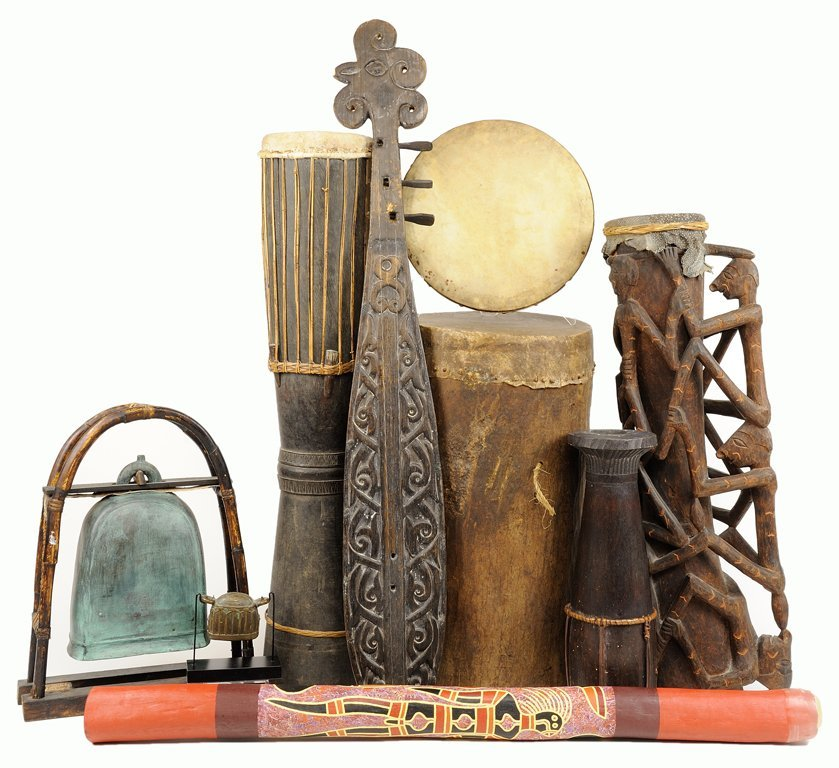 AN AFRICAN MUSICAL INSTRUMENT COLLECTION
