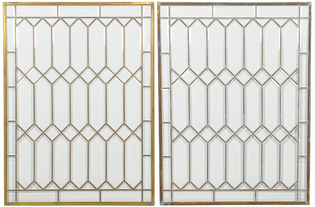 A PAIR OF MID-17TH CENTURY STYLE GLASS WINDOWS