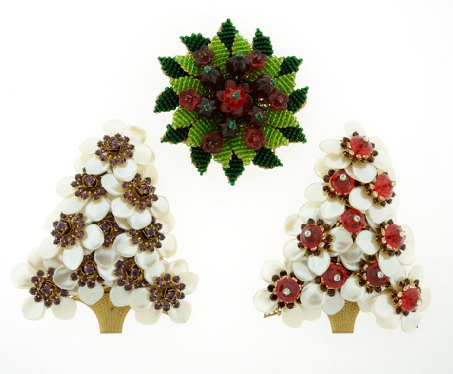 A GROUP OF 3 STANELY HAGLER BROOCHES