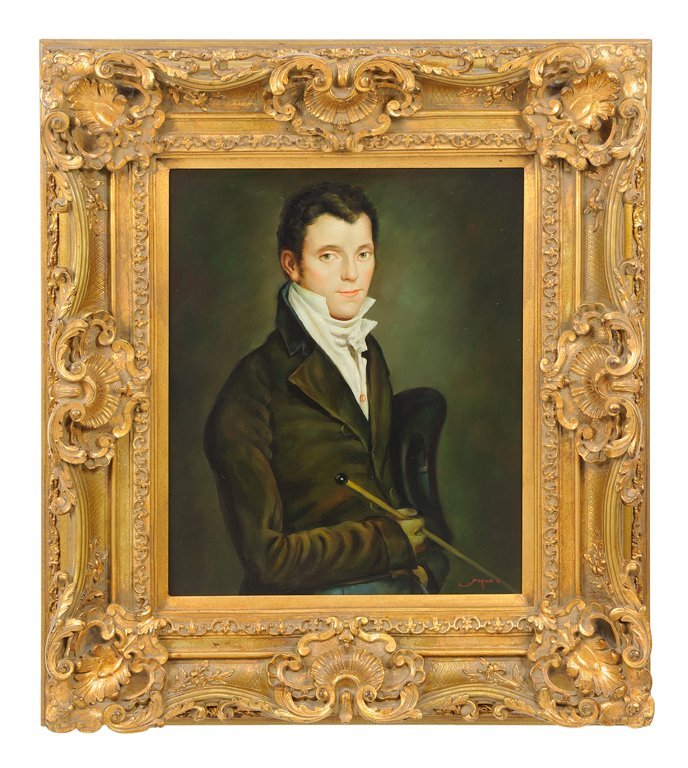 AN OIL ON CANVAS PORTRAIT OF AN EDWARDIAN MAN BY