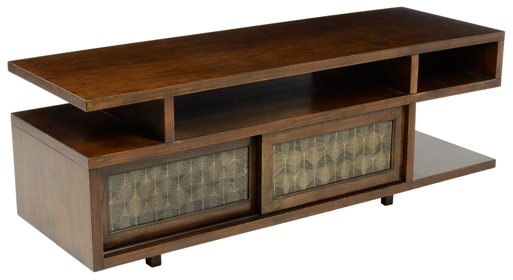 A MID CENTURY STYLE MINIMALIST ENTERTAINMENT CONSOLE