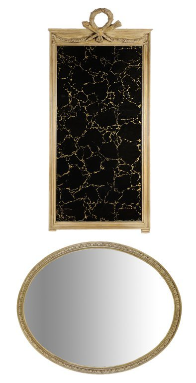 A DUO OF TWO EMPIRE STYLE DECORATIVE MIRRORS