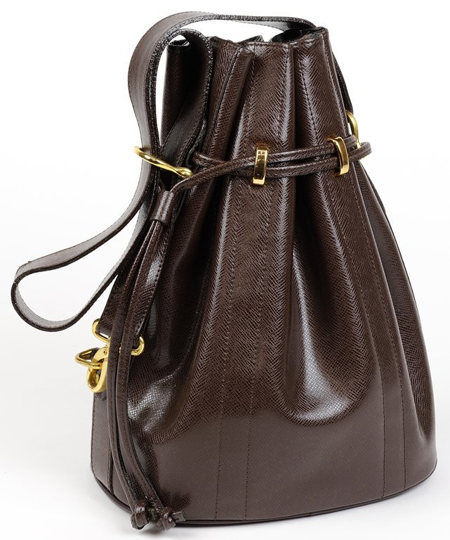 """A LADIES PARISIAN EMBOSSED """"SNAKE"""" LEATHER CINCH BAG IN"""