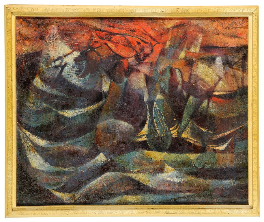 "LYNN SWEAT, (AMERICAN, TEXAS; 1934 -), ""ABSTRACT"
