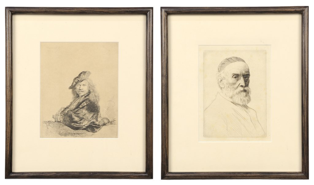 A PAIR OF DUTCH STYLE ETCHINGS AFTER REMBRANDT INCLUDES