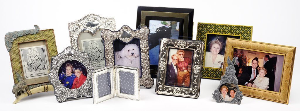 TEN DECORATIVE TABLE TOP FRAMES