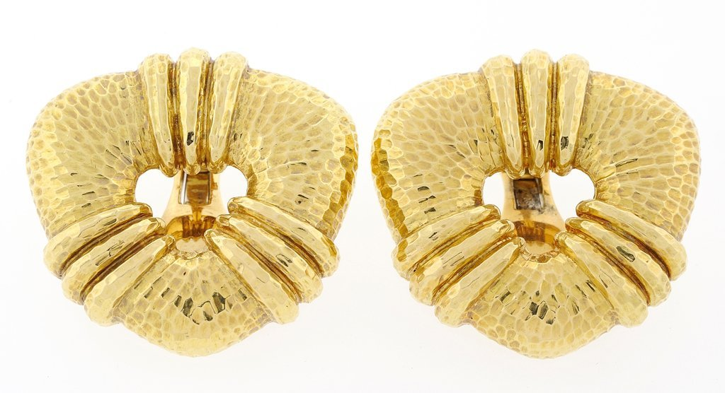 DAVID WEBB 18KT CLIP EARRINGS