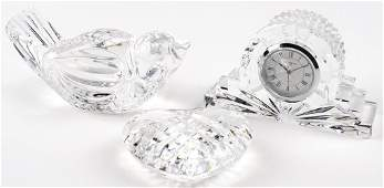 THREE PIECES OF WATERFORD CRYSTAL
