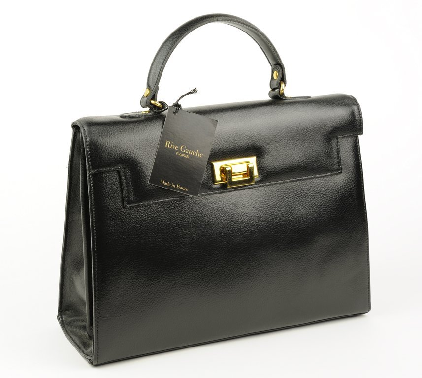 A LARGE LADIES BRIEFCASE BAG IN MIDNIGHT NOIRE BY RIVE
