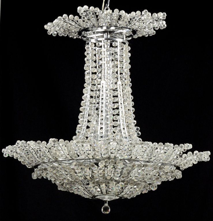 A BALL AND OCTAGON CRYSTAL ENCRUSTED EMPIRE STYLE