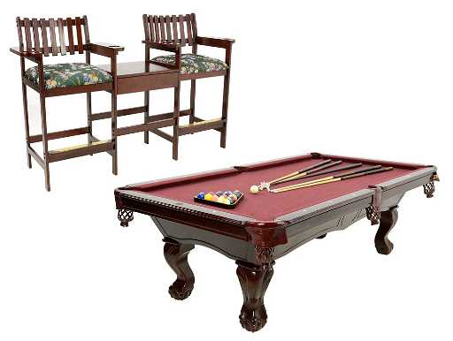 A WESTWOOD BILLIARDS TABLE ON CLAW AND BALL FEET WITH - Westwood pool table