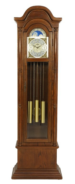 """A LOUIS XV STYLE GRANDFATHER PENDULUM CLOCK BY """"HERMES"""""""