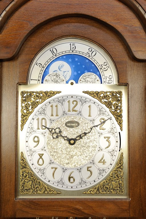 """A LOUIS XV STYLE GRANDFATHER PENDULUM CLOCK BY """"HERMES"""" - 2"""