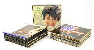 A LARGE COLLECTION OF VINYL RECORDS INCLUDES SIGNED
